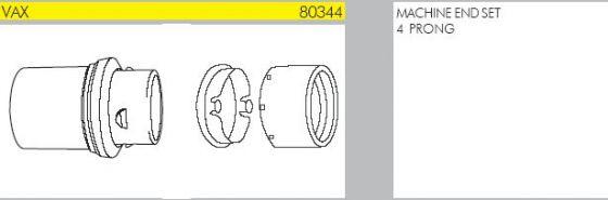 Tellus Nilfisk Machine Hose Cuff 4 Prong Vacuum Parts