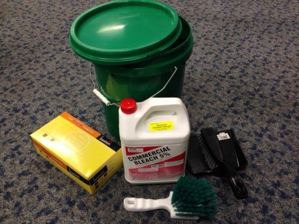 Vomit Blood Clean Up Kit Disinfectants Hospital Grade